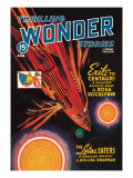 Thrilling Wonder Stories: Rocket Ship Troubles Wall Decal