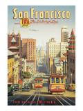 Ligne Lindbergh- San Francisco, Californie Adhésif mural par Kerne Erickson