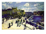 Pont-Neuf Wall Decal by Pierre-Auguste Renoir