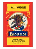 No. 2 Warehouse Eagle Broom Label Wall Decal