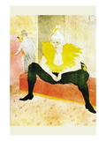 Sitting Clown Wall Decal by Henri de Toulouse-Lautrec