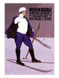 Reflective Skier in Turtleneck Wall Decal