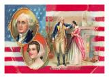 George Washington and Martha Curtis Wall Decal