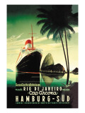 Hamburg to Rio de Janeiro on the Cap Arcona Steamship Wall Decal