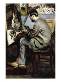 The Painter In The Studio of Bazille Wall Decal by Pierre-Auguste Renoir