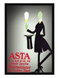 Asta Lampen Wall Decal by Valdemar Andersen