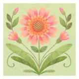 Floral Square IV Wallstickers
