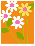 Bright Flowers Wall Decal