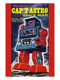 Cap't Astro Space Man Wall Decal