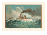 Battleship Texas, Battleship Iowa, and Torpedoboat Porter, 1899 Wall Decal by  Werner