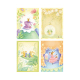 Tea Time Critters Four Patch Wall Decal