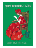 Woman in Red Reading Wall Decal by Ferdinand Von Reznicek