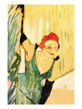 Yvette Guilbert Greets The Audience Wall Decal by Henri de Toulouse-Lautrec