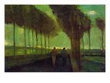 Allée de campagne Adhésif mural par Vincent van Gogh