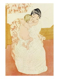 Motherly Tenderness Wall Decal by Mary Cassatt