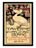 Taverne du Pelican Blanc Wall Decal by Henry-claudius Forestier