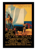 Visit Romantic Spain: Rapid Direct Steamship Service from New York to Sevilla Wall Decal