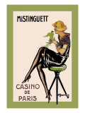 Mistinguett, Casino de Paris Wall Decal by Charles Gesmar