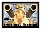 Battleship Potemkin 1905 Wallstickers af Anton Lavinsky