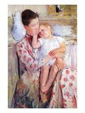 Mother and Child Wall Decal by Mary Cassatt