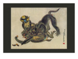 Monkey Fight Wall Decal