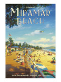Miramar Beach, Montecitos Wall Decal by Kerne Erickson
