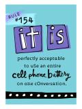 Cell Phone Rule Vinilo decorativo