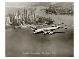 Lockheed Constellation, New York 1950 Wallsticker af Clyde Sunderland