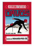 Davos Skater Wall Decal by Walther Koch