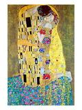 Gustav Klimt - Polibek Lepicí obraz na stěnu