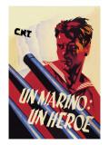 Sailor: A Hero Wall Decal by Arturo Ballester