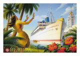 Aloha Towers Autocollant mural par Kerne Erickson