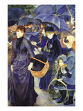 Les Para Pluies Wall Decal by Pierre-Auguste Renoir