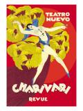 Teatro Nuevo: Charivari Revue Wall Decal by Josep Aluma