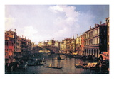 The Rialto Bridge Wall Decal by  Canaletto