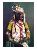 Sioux Chief Old Hand Wall Decal by Carl And Grace Moon