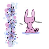 Astro Bunny Wall Decal