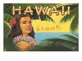 Hawaii, Aloha Adesivo de parede por Kerne Erickson
