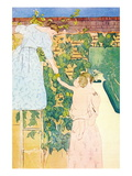 Picking Fruit Wall Decal by Mary Cassatt