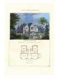 Tudor Cottage, Elizabethan Wall Decal by Richard Brown