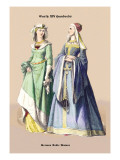 German Noblewomen, 15th Century Wall Decal by Richard Brown