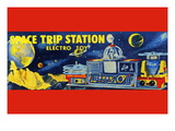Space Trip Station Electro Toy Wall Decal