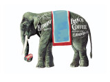 Elephant Brand French Coffee Wall Decal