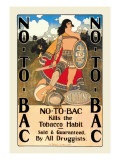 No-To-Bac Wall Decal by Maxfield Parrish