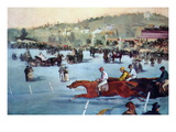 Races At The Bois De Boulogne Wall Decal by douard Manet