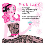 Pink Lady Drink Recipe Wall Decal