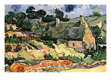 Shelters In Cordeville Wall Decal by Vincent van Gogh