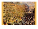Boulevard of Capucines In Paris Wall Decal by Claude Monet