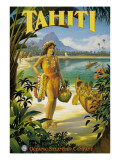 Tahiti Muursticker van Kerne Erickson
