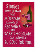 Wine and Chocolate Wall Decal